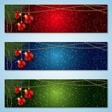 Christmas and New Year colorful vector banners collection. Merry Christmas and Happy New Year vector banners design collection. Abstract colorful backgrounds vector illustration