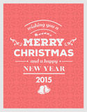Merry christmas and happy new year 2015 vector Stock Photos