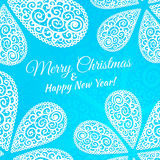 Merry Christmas and Happy New Year. Vector doodle Royalty Free Stock Photography