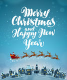 Merry Christmas and Happy New Year. Vector. Greeting card Royalty Free Stock Photos