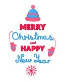 Merry Christmas and Happy New Year vector holiday Stock Photo