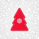 Merry Christmas and Happy New Year vector icon with snowflake.   Royalty Free Stock Photos