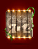Merry Christmas and Happy New Year 2014 Royalty Free Stock Photography