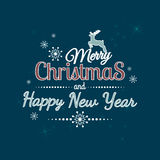 Merry Christmas And Happy New 2015 Year. Royalty Free Stock Photos