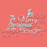 Merry Christmas And Happy New 2015 Year. Royalty Free Stock Photography