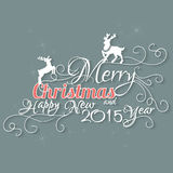 Merry Christmas And Happy New 2015 Year. Royalty Free Stock Photo