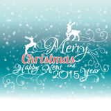 Merry Christmas And Happy New 2015 Year. Vector illustration vector illustration