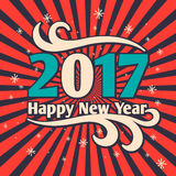 2017. Merry Christmas and Happy New Year. Vector illustration Royalty Free Illustration