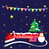 Merry christmas and happy new year. Stock Images