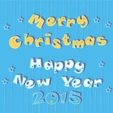 Merry Christmas and Happy New Year 2015 Stock Photos