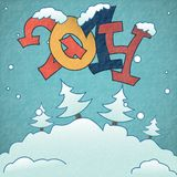 Merry Christmas And Happy New Year. Vector Illustration. Eps 10 Royalty Free Stock Photos