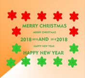 Merry christmas happy new year Stock Photography