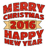 Merry Christmas and Happy new year. Vector image of Merry Christmas and Happy new year Stock Photography