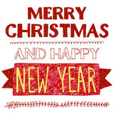 Merry Christmas and Happy new year. Vector image of Merry Christmas and Happy new year Royalty Free Stock Image