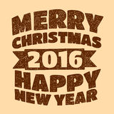 Merry Christmas and Happy new year. Vector image of Merry Christmas and Happy new year Stock Photos
