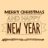 Merry Christmas and Happy new year. Vector image of Merry Christmas and Happy new year Royalty Free Stock Photos