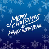 Merry christmas and happy new year. Vector lettring,calligraphy Royalty Free Stock Photography