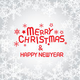 Merry christmas and happy new year. Vector lettring,calligraphy Royalty Free Stock Images