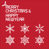 Merry christmas and happy new year. Vector lettring,calligraphy, Xmas card Stock Images