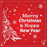 Merry Christmas and Happy New Year 2019. Vector royalty free illustration