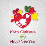 Merry Christmas and Happy New Year. Vector Rooster image. Greeting Card design. Merry Christmas and Happy New Year. Vector Rooster image. Greeting Card for your Stock Photography