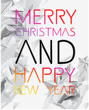 Merry Christmas and Happy New Year vector. Merry Christmas and Happy New Year typography vector illustration Stock Photo