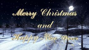 Merry Christmas and Happy New Year - Videosequence. Merry Christmas and Happy New Year - 10 Seconds Videosequence stock video