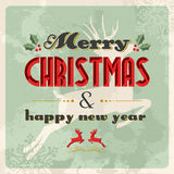 Merry christmas and happy new year vintage Royalty Free Stock Image