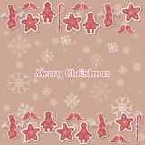 Merry christmas and happy new year vintage card typographic copy Royalty Free Stock Photos