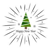 Merry Christmas and Happy New Year on a white background. Merry Christmas and Happy New Year 2018 on a white background stock illustration