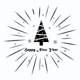 Merry Christmas and Happy New Year 2018 on a white background. Merry Christmas and Happy New Year on a white background Royalty Free Stock Image
