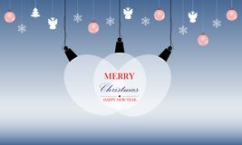 Merry Christmas and Happy New Year. stock illustration