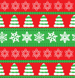 Merry Christmas and Happy New Year winter holiday backgrounds. Collection of seamless patterns with red and white colors. Vector i. Merry Christmas and Happy New Stock Images