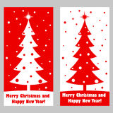 Merry christmas and a happy new year. Winter story. Fir tree and snow. Flat image. Vector illustrations. Merry christmas and a happy new year. Winter story. Fir Royalty Free Stock Photography