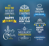 Merry Christmas and a happy New Year wishes Stock Image