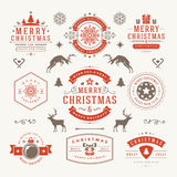 Merry Christmas And Happy New Year Wishes Stock Images
