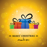 Merry Christmas & Happy New Year With Gifts - Conc Royalty Free Stock Photos