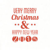 Merry Christmas & Happy New Year stock illustration
