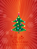 Merry christmas & happy new years background. Vector of Merry christmas & happy new years background with snowy christmas tree ball and text Stock Photography