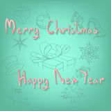 Merry christmas and Happy newyear Stock Photo