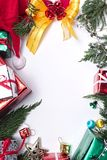 Merry christmas and happy newyear gift. Frame Stock Photo