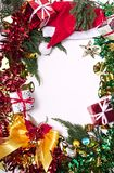 Merry christmas and happy newyear gift. Frame Royalty Free Stock Image