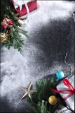 Merry christmas and happy newyear gift. Frame Royalty Free Stock Images