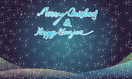 Merry christmas and happy newyear typography greeting card Royalty Free Stock Images