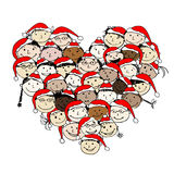 Merry christmas! Happy peoples for your design Stock Images