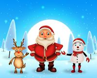 Merry Christmas happy christmas,santa with rendeer stock image