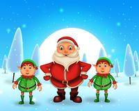 Merry Christmas happy christmas,santa with rendeer royalty free stock image