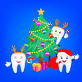Merry Christmas with happy tooth. Stock Photography