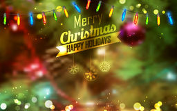 Merry Christmas and HappyHoliday Background Stock Photo