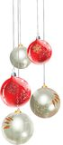 Merry christmas and happynew year. Christmas background with baubles, vector illustration Royalty Free Stock Images